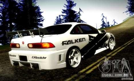 Acura Integra Type R para GTA San Andreas esquerda vista