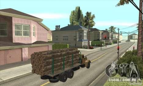 KrAZ-257 para GTA San Andreas vista direita
