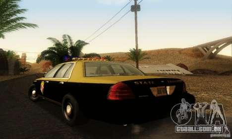 Ford Crown Victoria Maryland Police para GTA San Andreas esquerda vista