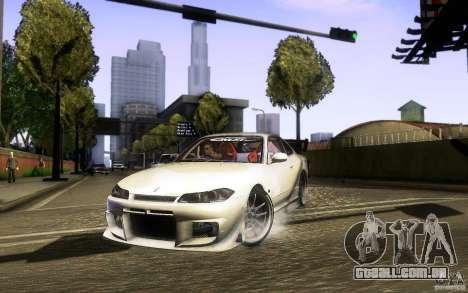 Nissan Silvia S15 Drift Style para GTA San Andreas vista traseira
