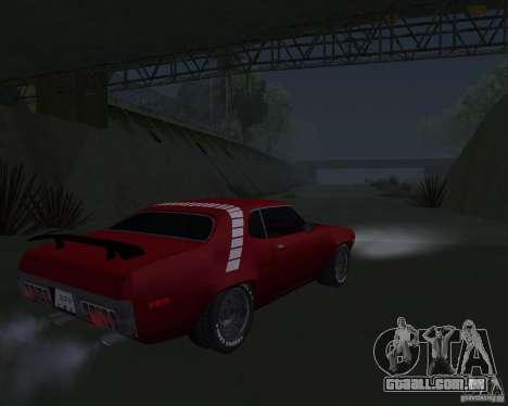 Plymouth Roadrunner para GTA San Andreas vista direita