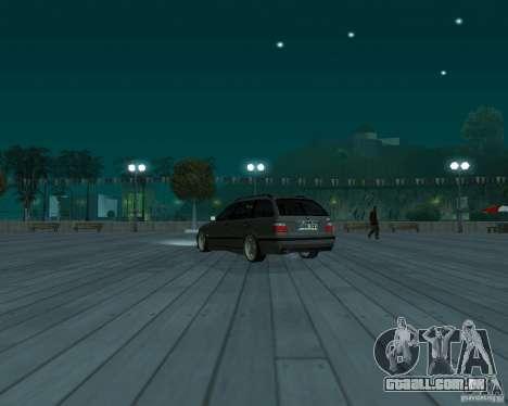 BMW E36 Touring para GTA San Andreas esquerda vista