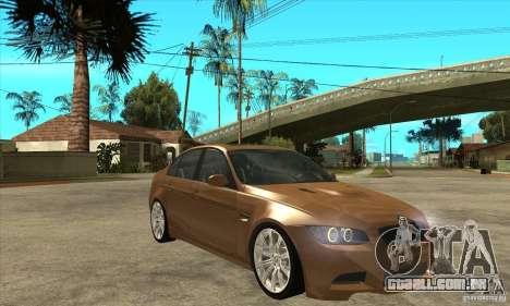 BMW E90 M3 para GTA San Andreas vista traseira