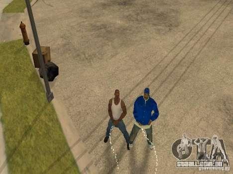 Você pode sentar, fumar, beber uísque, vômitos,  para GTA San Andreas quinto tela
