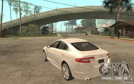 Jaguar XFR para GTA San Andreas traseira esquerda vista