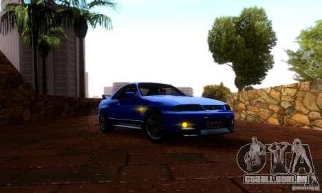 Nissan Skyline GT-R R-33 v2.0 para GTA San Andreas traseira esquerda vista