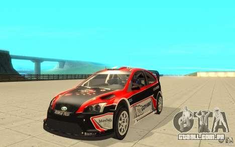 Ford Focus RS WRC 08 para GTA San Andreas vista inferior