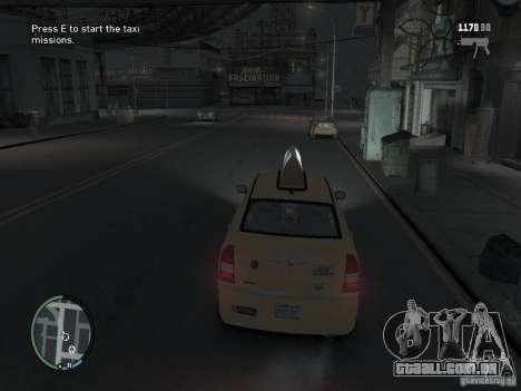 A missão de taxista para GTA 4 para GTA 4