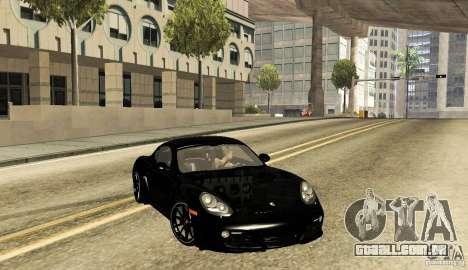 Porsche Cayman R para GTA San Andreas traseira esquerda vista