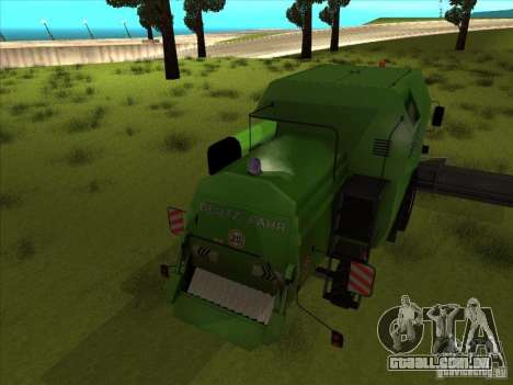 Deutz Harvester para GTA San Andreas vista direita