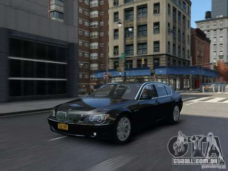 BMW 7 Series E66 2011 para GTA 4 vista interior