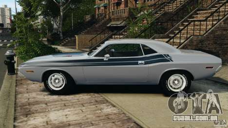 Dodge Challenger RT 1970 v2.0 para GTA 4 esquerda vista