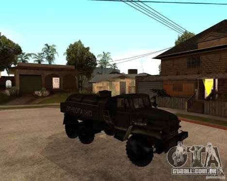 Ural 4320 caminhão para GTA San Andreas vista traseira