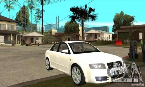 Audi S4 2004 para GTA San Andreas vista traseira