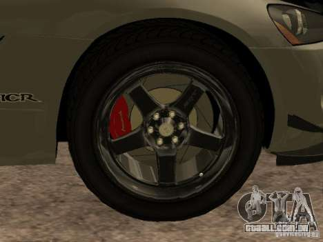 Dodge Viper para GTA San Andreas vista interior