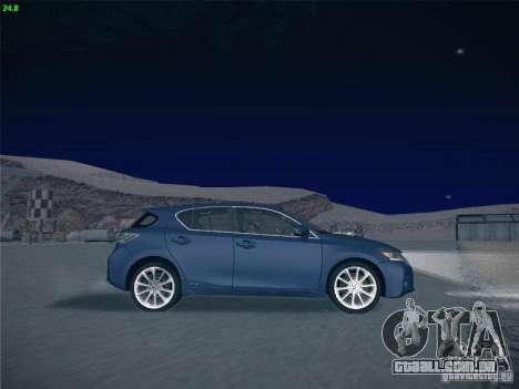 Lexus CT200H 2012 para GTA San Andreas vista superior