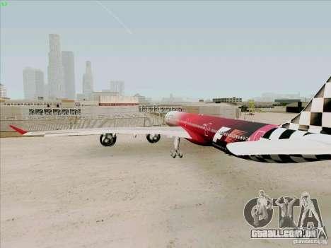 Airbus A-340-600 Formula 1 para GTA San Andreas vista direita