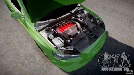 Mitsubishi Lancer Evolution X Tuning para GTA 4 vista de volta