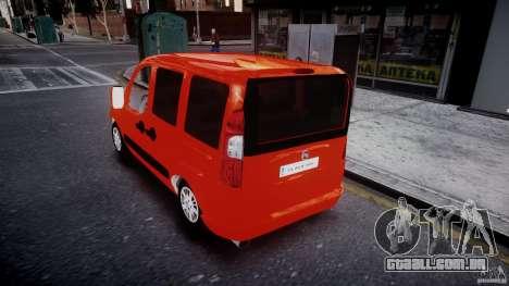 Fiat Doblo 1.9 2009 para GTA 4 traseira esquerda vista