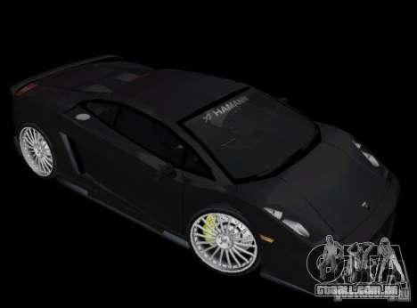 Lamborghini Gallardo Hamann Tuning para GTA Vice City deixou vista