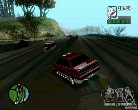 Vaz 21099 NFS Tuning para GTA San Andreas traseira esquerda vista