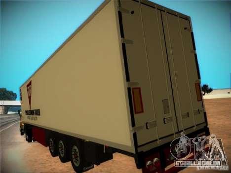Reboque frigorífico para GTA San Andreas vista interior