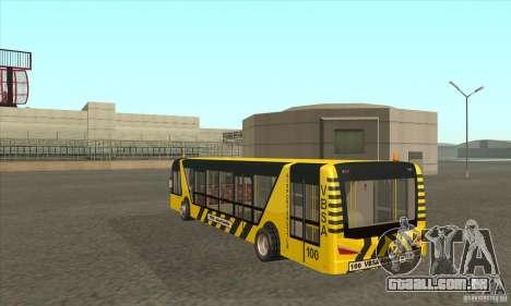 Ônibus para o aeroporto para GTA San Andreas traseira esquerda vista