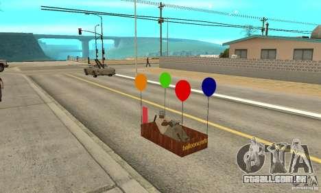 Ballooncraft para GTA San Andreas vista interior
