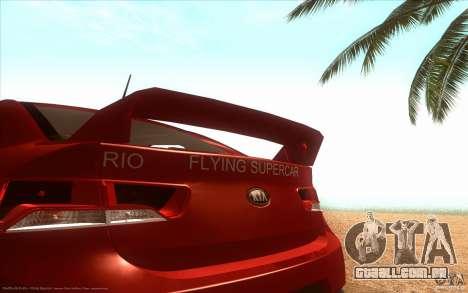 Kia Rio para GTA San Andreas traseira esquerda vista