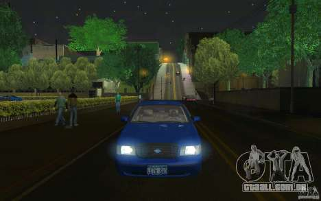 Ford Crown Victoria para GTA San Andreas vista interior