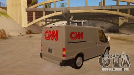 Ford Transit CNN para GTA San Andreas vista direita