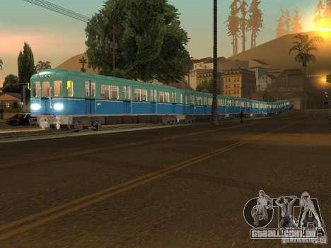 Metro e para GTA San Andreas esquerda vista