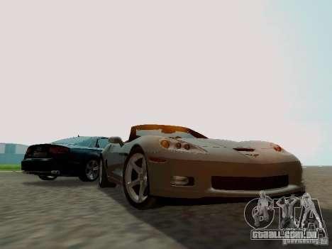 Chevrolet Corvette C6 GS Convertible 2012 para GTA San Andreas vista traseira