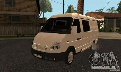 Gazela 2705 carga passageiros para vista lateral GTA San Andreas