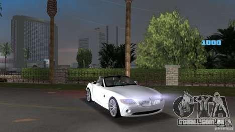 BMW Z4 2004 para GTA Vice City vista traseira