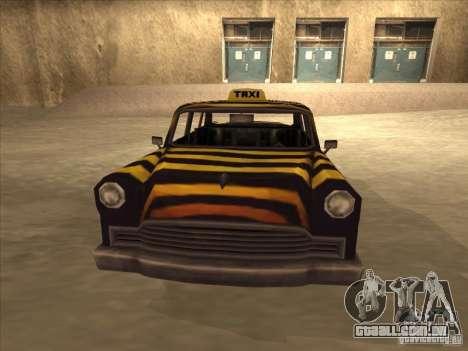 Zebra Cab de Vice City para GTA San Andreas traseira esquerda vista