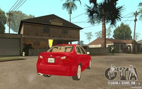 BMW 330i E90 v.2.0 para GTA San Andreas vista direita