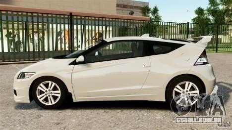 Honda Mugen CR-Z v1.1 para GTA 4 esquerda vista