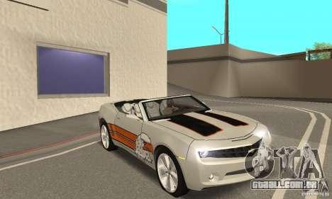 Chevrolet Camaro Concept 2007 para GTA San Andreas vista inferior