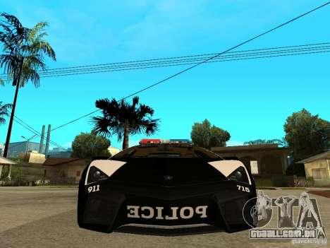 Lamborghini Reventon The Speed Enforcer para GTA San Andreas vista direita