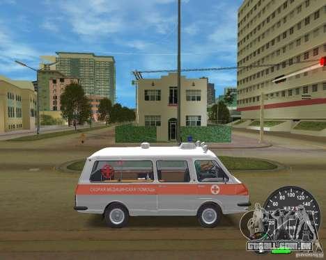 RAF 2203 ambulância para GTA Vice City vista traseira esquerda
