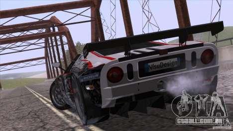 Ford GT Matech GT3 Series para GTA San Andreas vista traseira