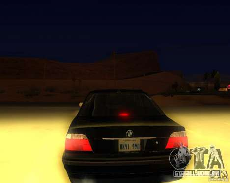 BMW 750i e38 2001 M-Packet para GTA San Andreas esquerda vista