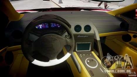 Lamborghini Reventon Final para GTA 4 vista de volta