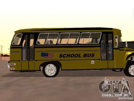 Bedford School Bus para GTA San Andreas vista traseira