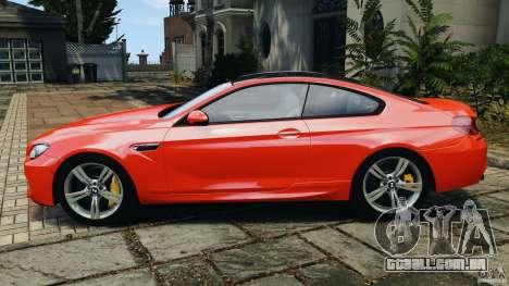 BMW M6 F13 2013 v1.0 para GTA 4 esquerda vista