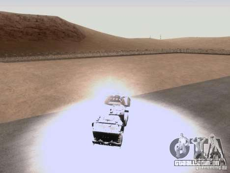 M142 HIMARS Artillery para GTA San Andreas vista interior