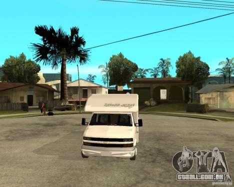 Chevrolet Camper para GTA San Andreas vista traseira