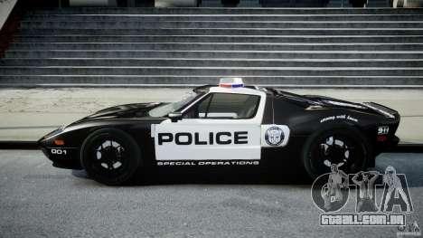 Ford GT1000 Hennessey Police 2006 [EPM][ELS] para GTA 4 esquerda vista