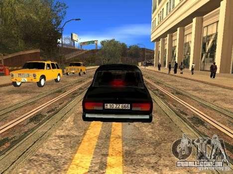 Estilo ZZ 2107 VAZ para GTA San Andreas traseira esquerda vista